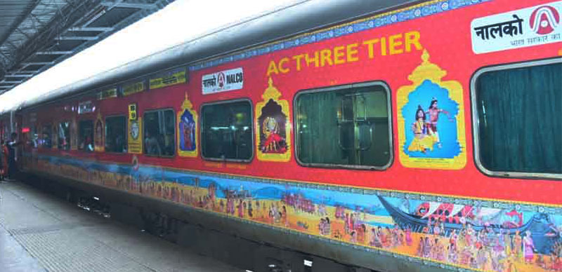 Bhubaneswar-New Delhi Rajdhani Express exhibiting Odisha's art launched